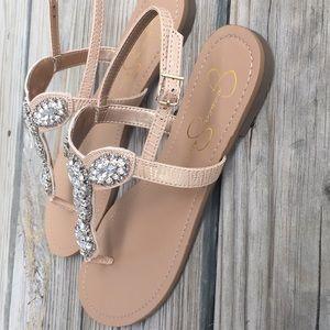 5248422d95526 Jessica Simpson Shoes - NWOB Jessica Simpson Jeweled Thong Sandal